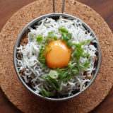 OKAMADONでシェラカップ炊飯!からのしらす丼