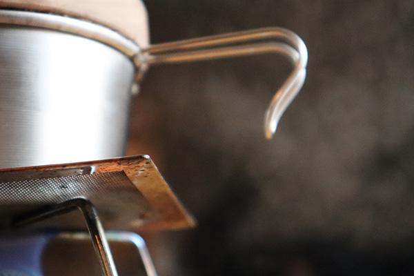 シェラカップ炊飯/湯気