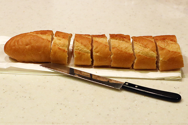 バケットパンをカット