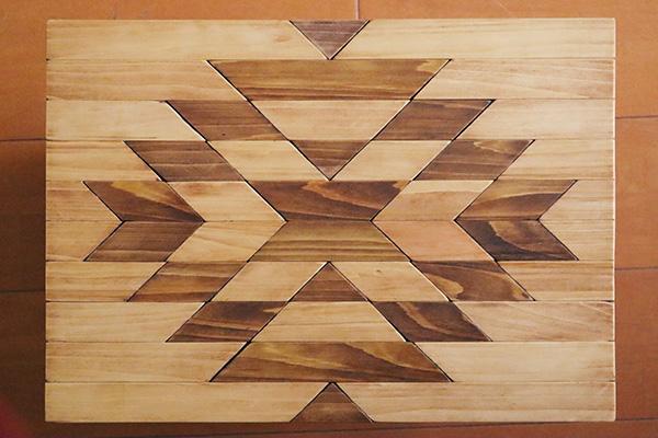 オルテガ柄の天板完成マフカン