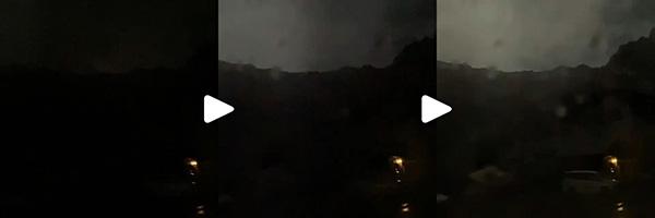 雷雨の連続写真