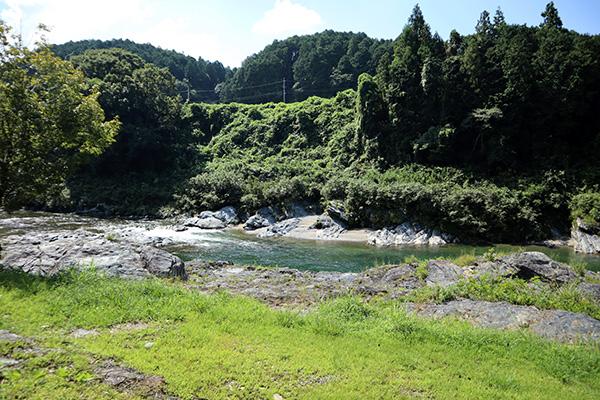 カルディア第2キャンプ場裏の吉野川