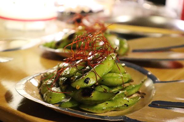 焼き枝豆のペペロンチーノ