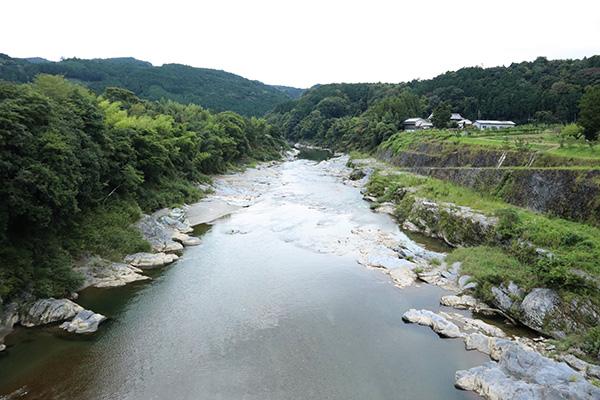 カルディアキャンプ場近くの橋の上からの見た吉野川