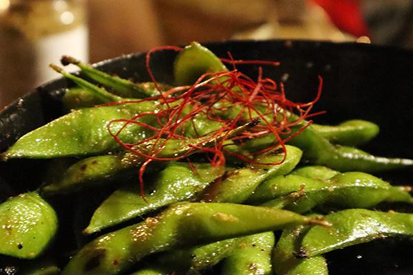 枝豆のペペロチーノ