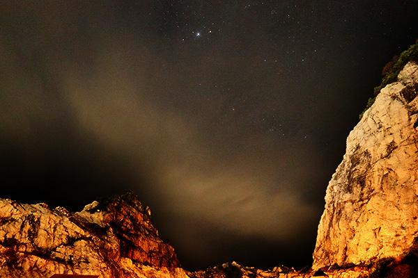 白崎海洋公園オートキャンプ場の夜空
