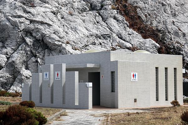 白崎海洋公園オートキャンプ場のトイレ