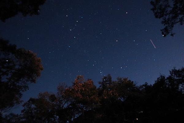 ちいさい森のキャンプ村の星空