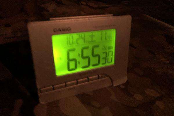 ちいさい森のキャンプ村/夕方の気温