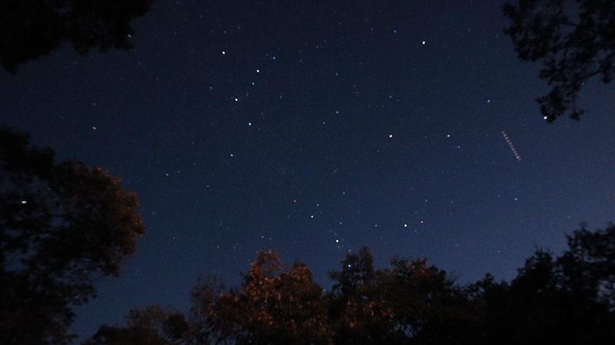 ちいさな森キャンプ場の星空/カシオペヤ座