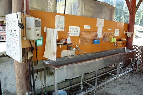 カルディアキャンプ場の第2キャンプ場炊事場