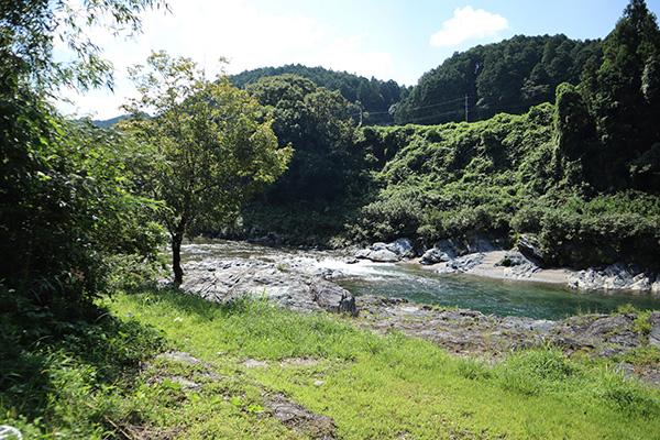 キャンプ場は吉野川沿い