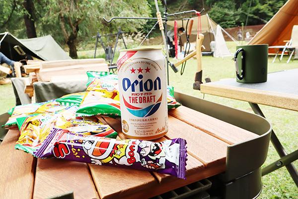 オリオンビールとうまい棒とキャベツ太郎