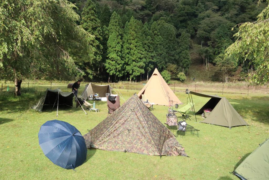 テント乾燥撤収