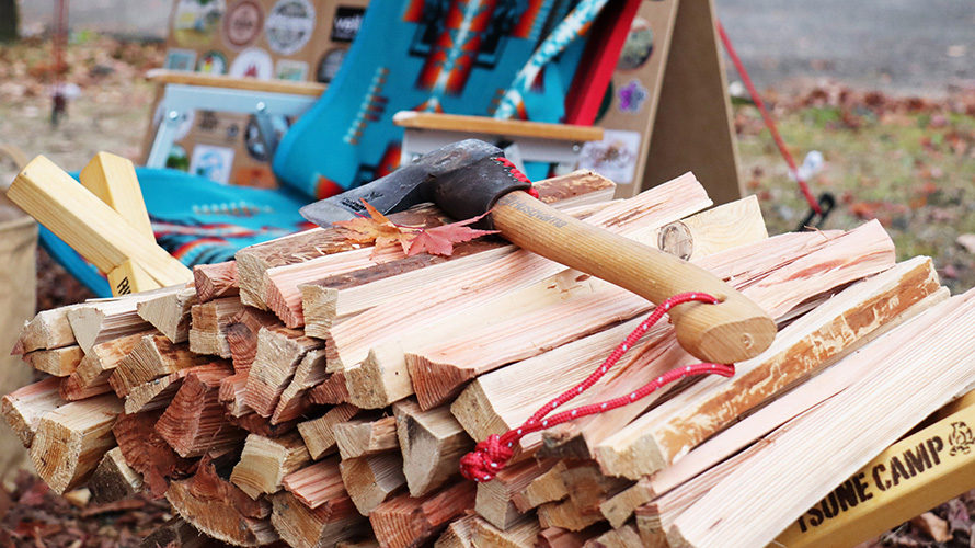 落ち葉の絨毯!秋キャン満喫の火祭り 2日目