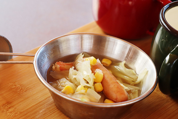 ウインナー入り野菜スープ