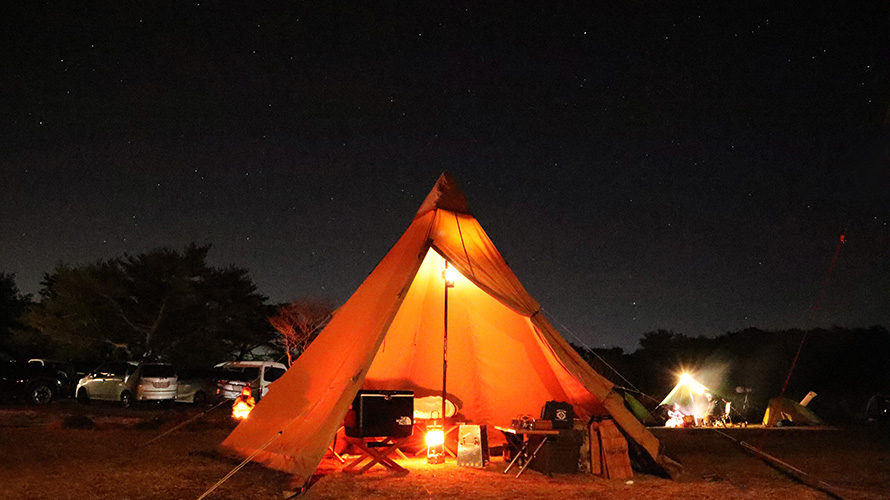 峰山高原/星降る高原キャンプ場の夜