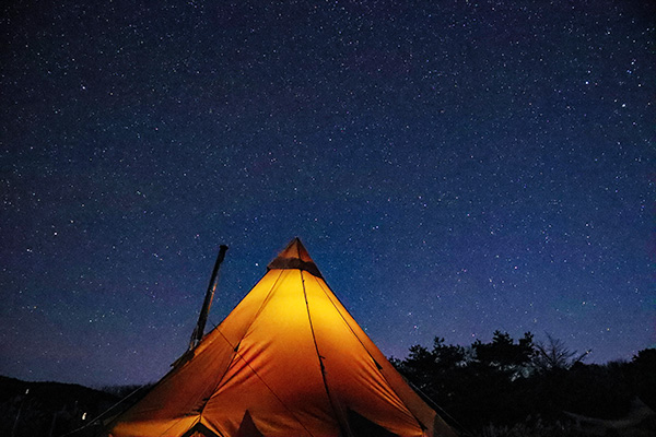 峰山高原キャンプ場で星空撮影