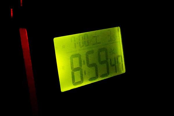 8:59の気温