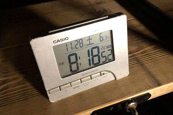 11月のやぶっちゃ夜の気温