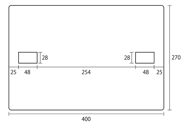 焚き火テーブルのアンダートレイの寸法図面