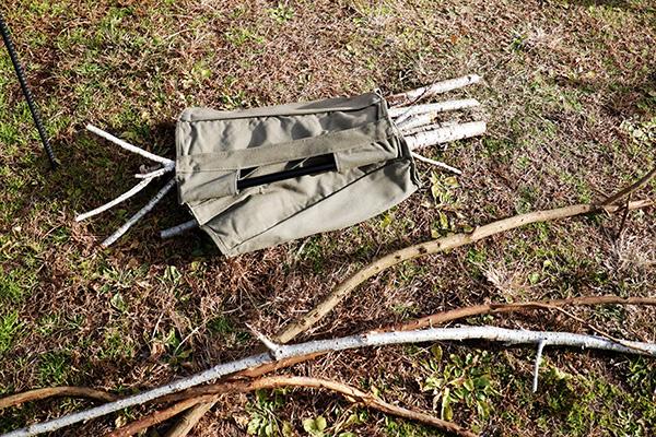 薪拾いで集めた枯れ枝