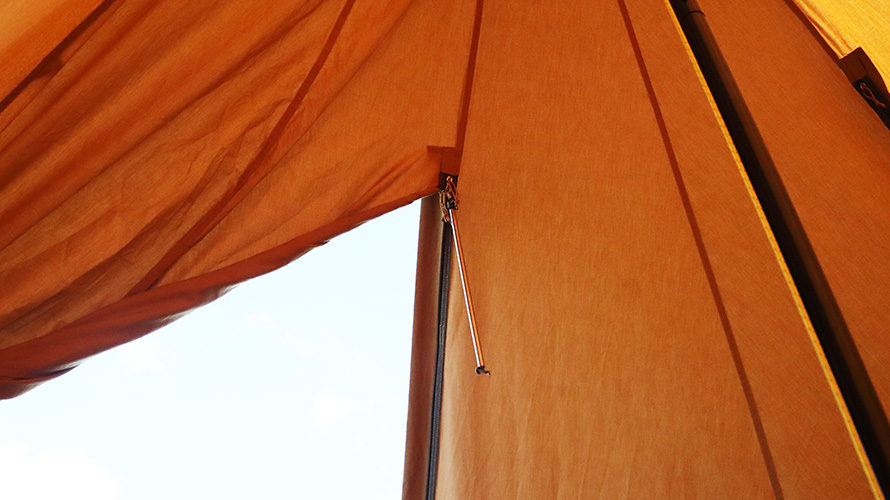 テント用のファスナーサポートバー