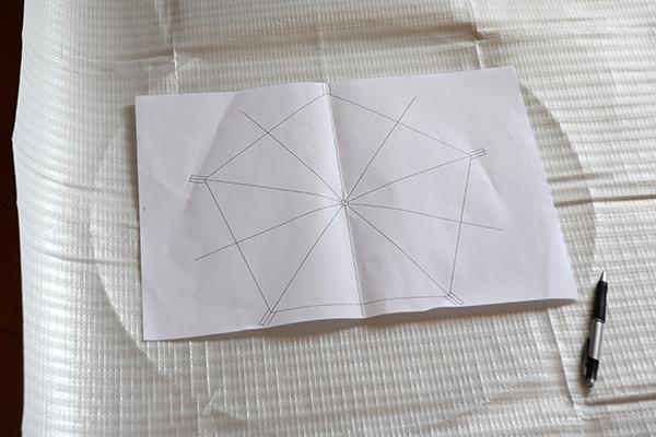 下書きの五角形の出力