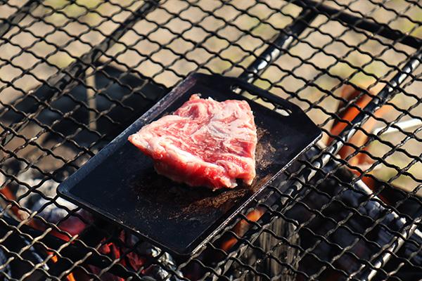 朝からステーキ肉