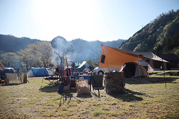 南光自然観察村でキャンプ