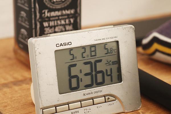 夕方の幕内の温度