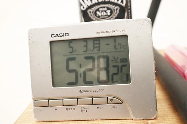 朝の幕内の温度はまさかのマイナス