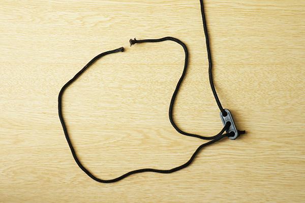 切れたDDタープ付属のロープ