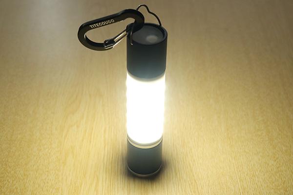 800ルーメンの明るさ/OMOMOAKARIの充電式LEDライト