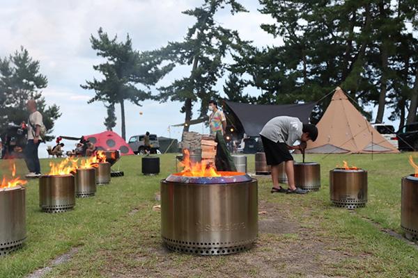 レンジャー軍団とユーコンで焚き火