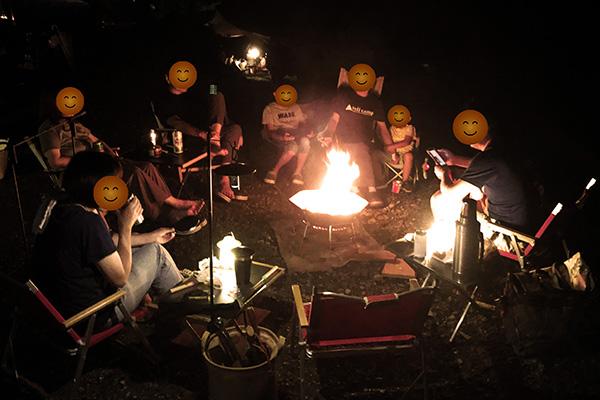 夏に焚き火