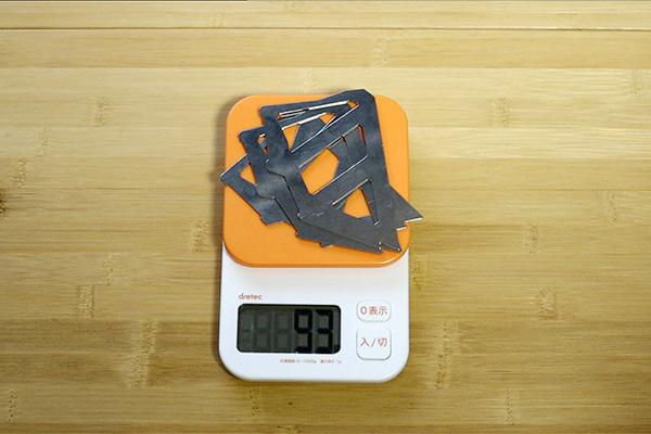 テトラタイプのドリッパーの重さ