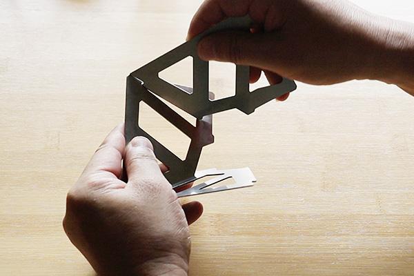 テトラタイプのコーヒードリッパーの組み立て