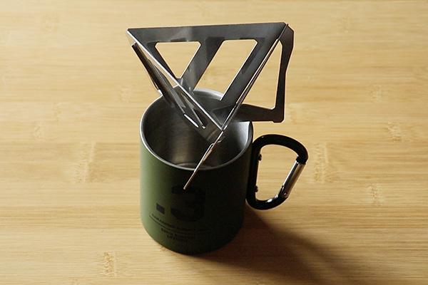 テトラタイプのコーヒードリッパーの安定感